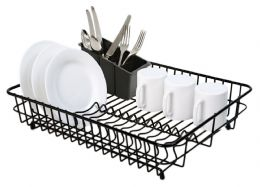 Delfinware Wireware Black Large Dish Sink Kitchen Drainer Drying Rack Strainer